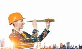 Проект индустриального развития Мультимедиа стоковая фотография rf