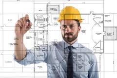 Проект интерьеров строения стоковые изображения rf
