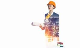 Проект индустриального развития Мультимедиа Мультимедиа Стоковое Изображение