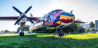 Проект искусства самолета граффити Стоковая Фотография