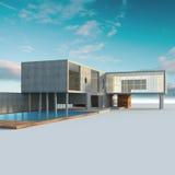 проект коттеджа принципиальной схемы Стоковая Фотография RF