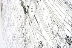 проект чертежей конструкции Стоковая Фотография