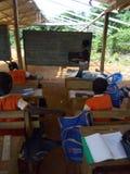 Проект школ здания в населенных пунктах сельского типа стоковые фотографии rf