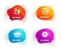Проект Bitcoin, тележка интервью и магазина значки Подсказки подписывают Запуск Cryptocurrency, файл контрольного списока, приобр бесплатная иллюстрация