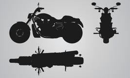 Проекция тяпки фронта, верхней части и стороны Стоковые Изображения