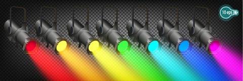 Прожекторы, сцены фар или платформы на марди Гра масленицы Стоковые Фото