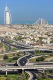 Прожитие Дубай - жилое и развитие гостиницы стоковые фото