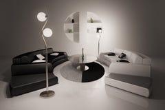 прожитие интерьера 3d представляет комнату Бесплатная Иллюстрация