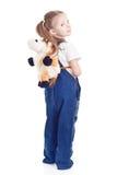 прозодежды белокурой голубой девушки маленькие Стоковое Фото