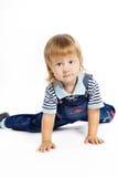 прозодежды голубого мальчика темные маленькие стоковые фотографии rf