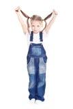 прозодежды голубой девушки маленькие Стоковые Изображения RF