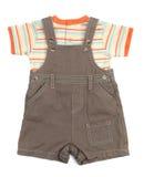 Прозодежды младенца установленные одежд Стоковые Фото