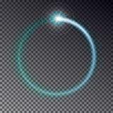 Прозрачная голубая светлая рамка при sparkles изолированные на da Стоковые Фото