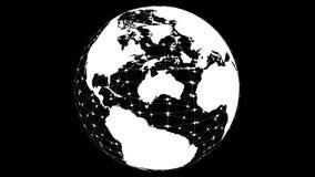 Прозрачная модель земли планеты поворачивает вокруг перевод 3d иллюстрация штока