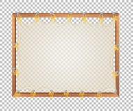 Прозрачная пустая деревянная доска иллюстрация вектора