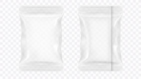 Прозрачная пустая упаковка еды фольги Стоковое Изображение RF