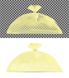 Прозрачная упаковка для закусок, еды, хлеба, сахара и специй иллюстрация вектора