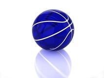 прозрачное баскетбола 3d голубое лоснистое Стоковое фото RF