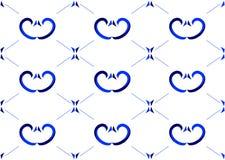прозрачное голубой картины безшовное Стоковые Изображения RF