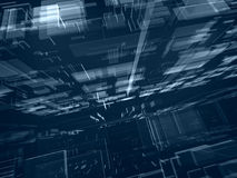 прозрачное голубой фантазии конструкций футуристическое Стоковые Фото