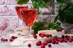 Прозрачное красное питье Стоковая Фотография RF