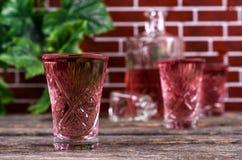 Прозрачное розовое питье Стоковые Фотографии RF