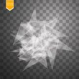 Прозрачное сломанное стекло на прозрачной предпосылке также вектор иллюстрации притяжки corel Стоковое фото RF