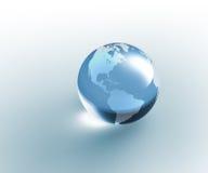 прозрачное стеклянного глобуса земли твердое иллюстрация вектора