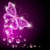 Прозрачные бабочка и пузыри иллюстрация штока
