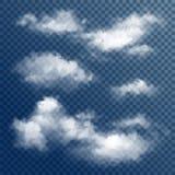 Прозрачные белые облака вектора иллюстрация штока