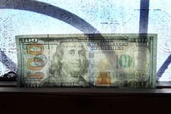 Прозрачные деньги долларовой банкноты Стоковое Изображение RF