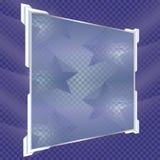 Прозрачные изолированные знамена также вектор иллюстрации притяжки corel Стоковые Изображения RF