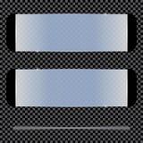 Прозрачные изолированные знамена также вектор иллюстрации притяжки corel Стоковая Фотография