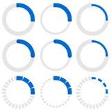 Прозрачные индикаторы прогресса Preloaders, участок, indicat шага Стоковые Фото