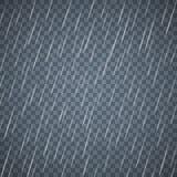Прозрачные падения дождя изолированные на синей предпосылке Плотный дождь с разбросанными падениями воды бесплатная иллюстрация