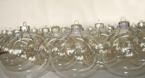 Прозрачные шарики рождества Стоковые Фотографии RF