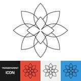 Прозрачный значок цветка Значок вектора на предпосылках разных видов иллюстрация штока