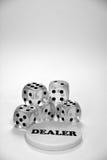 Прозрачный играть в азартные игры dices Стоковая Фотография RF