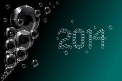 Прозрачный дизайн предпосылки пузыря мыла с 2 Стоковые Изображения