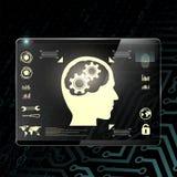 Прозрачный дисплей шток померанца иллюстрации предпосылки яркий Стоковое фото RF