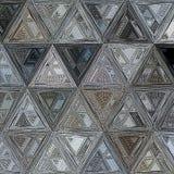 Прозрачный калейдоскоп треугольников элегантного серебряного цвета стоковая фотография rf