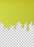 Прозрачный капая зеленый шаблон воды иллюстрация штока