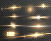 Прозрачный комплект влияния пирофакела объектива вектора Стоковая Фотография RF