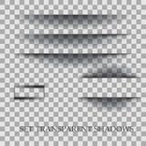 Прозрачный реалистический бумажный комплект влияния тени Элемент для рекламировать и выдвиженческое сообщения изолированных на пр иллюстрация вектора