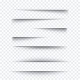 Прозрачный реалистический бумажный комплект влияния тени Знамя сети Элемент для рекламировать и выдвиженческое сообщения изолиров бесплатная иллюстрация
