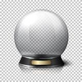 Прозрачный реалистический хрустальный шар вектора для рассказчиков удачи на предпосылке шотландки с отражением иллюстрация вектора