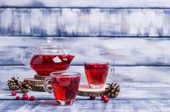 Прозрачный чай клюквы Стоковые Фотографии RF