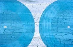 2 прозрачных голубых пластичных граммофонной пластинки Стоковые Изображения RF