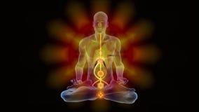 Прозрение йоги с chackras иллюстрация вектора