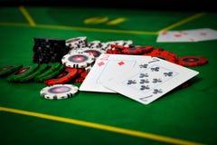 Проигрышная рука в покере Стоковые Изображения